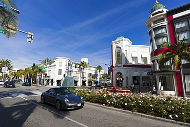 Rodeo Drive at Christmas, Beverly Hills, Los Angeles, California, United States of America, North America