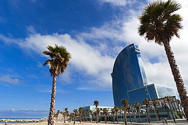 W Hotel, La Barceloneta, Barcelona, Catalonia, Spain, Europe