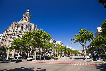 Passeig de Gracia, Barcelona, Catalonia, Spain, Europe