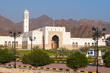 Parliament building in Al Bustan district, Muscat, Oman, Middle East