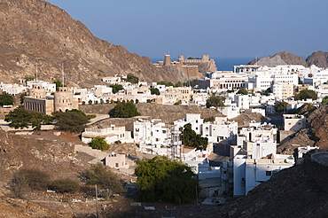 Old Muscat and Sultan Qaboos Palace, Muscat, Oman, Middle East