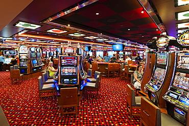 Casino, Carnival Breeze cruise, Caribbean Sea, United States of America, North America