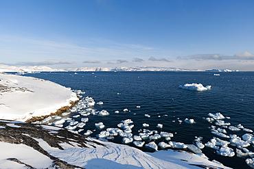 A view of Ilulissat icefjord, UNESCO World Heritage Site, Greenland, Denmark, Polar Regions