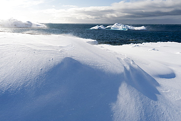 Icebergs along the coastline of Ilulissat, Greenland, Denmark, Polar Regions