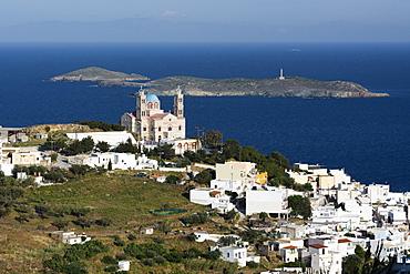 Church of Resurrection, built in 1870 on top of Vrodado hill, Ermoupoli, Syros island, Southern Aegean sea, Cyclades, Greek Islands, Greece, Europe