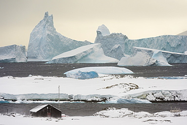 Vernadsky Research Base, the Ukrainian Antarctic station at Marina Point on Galindez Island in the Argentine Islands, Antarctica, Polar Regions