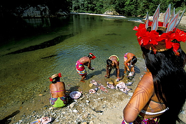 Embera Indian, Soberania Forest National Park, Panama, Central America