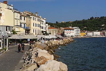 Piran waterfront, Slovenia, Europe