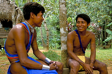 Embera Indians, Soberania Forest National Park, Panama, Central America
