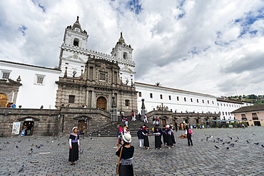 The Monastery of San Francisco, Ecuador's oldest church, founded in 1534, Quito, Ecuador, South America