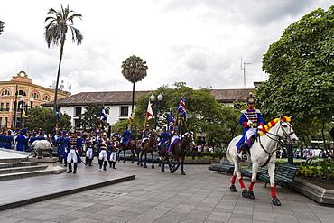 The Presidential Parade at the Plaza de la Independencia, Quito, Ecuador, South America