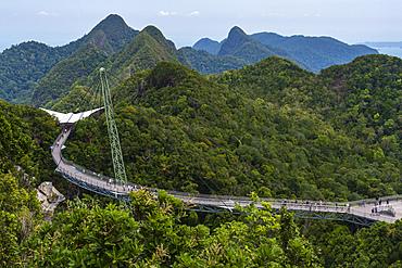 A view of Langkawi sky bridge, Malaysia, Southeast Asia, Asia