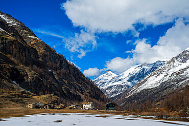The village of Pont, Gran Paradiso National Park, Aosta Valley, Italy.