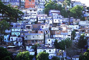 Hillside favela, La Rocinha, Rio de Janeiro, Brazil, South America