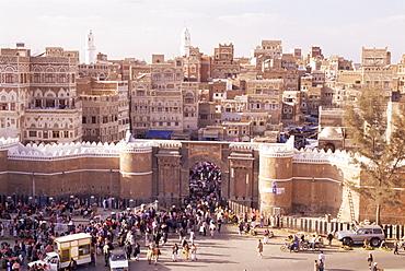 Bab al Yemen, Old Town, Sana'a, UNESCO World Heritage Site, Republic of Yemen, Middle East