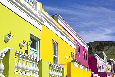 Colourful cottages, Bo Kaap Cape Malay district, Cape Town, South Africa, Africa