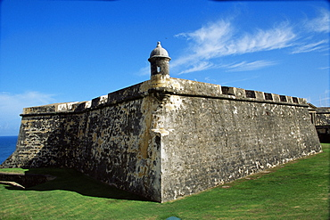 Ancient fort, Old San Juan, Puerto Rico, West Indies, Central America