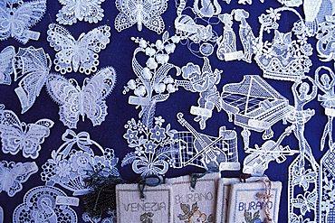 Shop of laces, Burano, Venice, Veneto, Italy