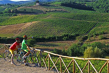 Relax after a bicycle ride, Biking around Italy