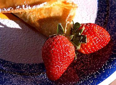 Crêpe souzette with strawberry jam, Italy
