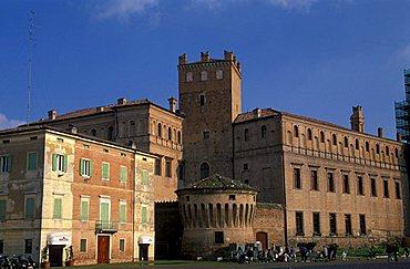 Pio castle, Martiri square, Carpi, Emilia Romagna, Italy.