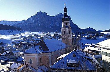 Cityscape, Castelrotto, Trentino Alto Adige, Italy.