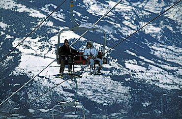 Chair lift, Pila, Valle d'Aosta, Italy
