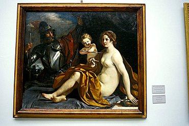 """Venere, Marte, Amore"", Guercino work of art, Estense gallery, Modena, Emilia Romagna, Italy"