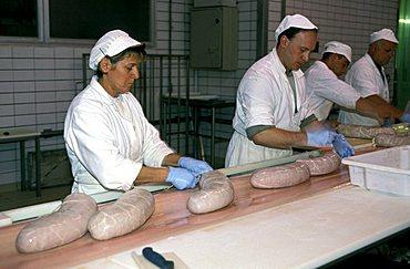 Villani sausage producers, Castelnuovo, Emilia Romagna, Italy