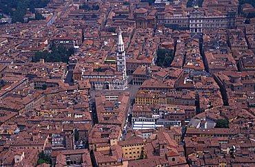 Aerial view, Modena, Emilia Romagna, Italy