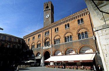 Podestà palace and Civic tower, Treviso, Veneto, Italy