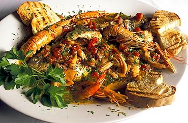 Brodetto all'Anconetana, La Moretta restaurant, Ancona, Marche, Italy.