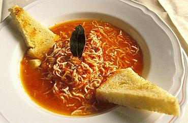 Bianchetti fish soup, Ippogrifo restaurant, Genoa, Ligury, Italy