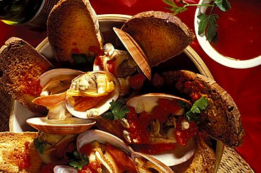 Clams soup, Isola Del Giglio, Toscana, Tuscany, Italy