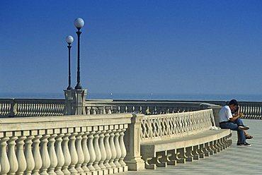 Mascagni terrace, Livorno, Tuscany, Italy