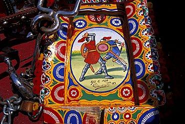 Particular of Sicilian handcart, Italy
