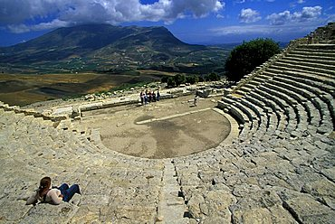 Theatre, Segesta, Sicily, Italy