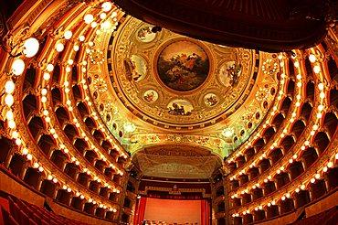 Bellini theatre, Catania, Sicily, Italy