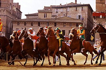 "Starting the Palio with the ""Mossa"", Siena, Tuscany, Italy"
