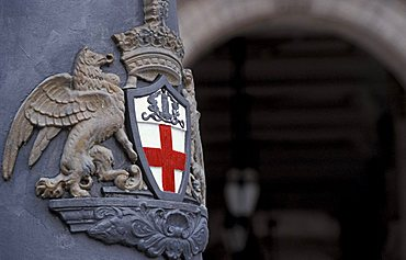 Coat of arms of the city, Genoa, Liguria, Italy