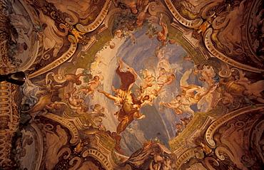 Interior of Palazzo Rosso, Genoa, Liguria, Italy