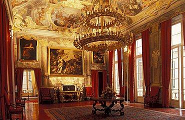 The ballroom, XVII century, Palazzo Spinola, Genoa, Liguria, Italy