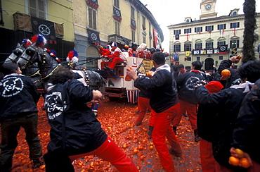The battle of the oranges, Ivrea, Piedmont, Italy