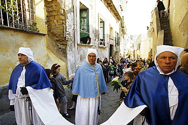 The procession of the Good Friday preceeding the Easter, Island of Procida, Campania, Italy