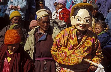 Celebration at gompa, Leh, Ladakh, India, Asia