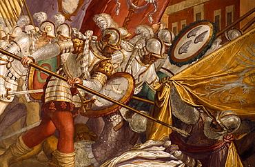 Particular of a painting, Cataio Castle, Battaglia Terme, Veneto, Italy
