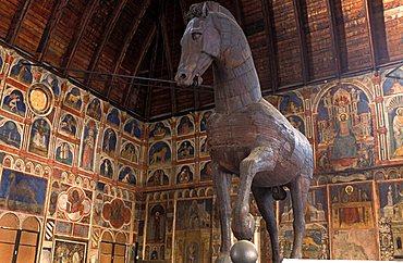 A room of the Palazzo della Ragione, Padua, Veneto, Italy