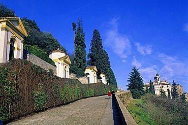 The seven little churches and Villa Duodo, Monselice, Veneto, Italy