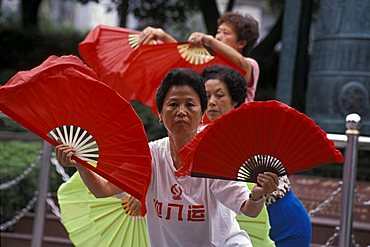Taiji martial art, Shanghai, China, Asia