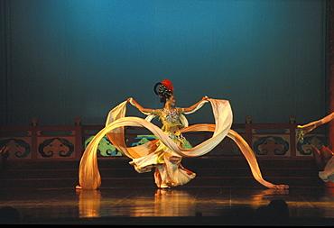 Tang Dynasty Music and Dancing, Xian, China, Asia